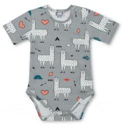 Baby body korte mouw - Alpaca Love