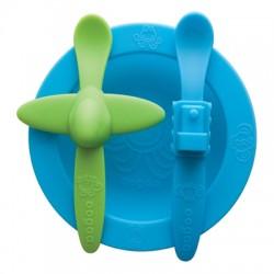Oogaa Maaltijdset blauw & groen