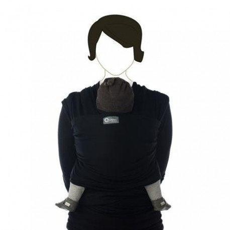 Draagdoek tricot-slen organic zwart