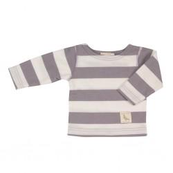 Baby t-shirt met paarse strepen