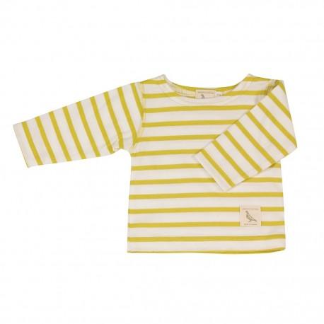 Baby t-shirt met gele strepen