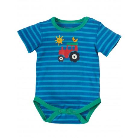 Frugi baby romper met tractor